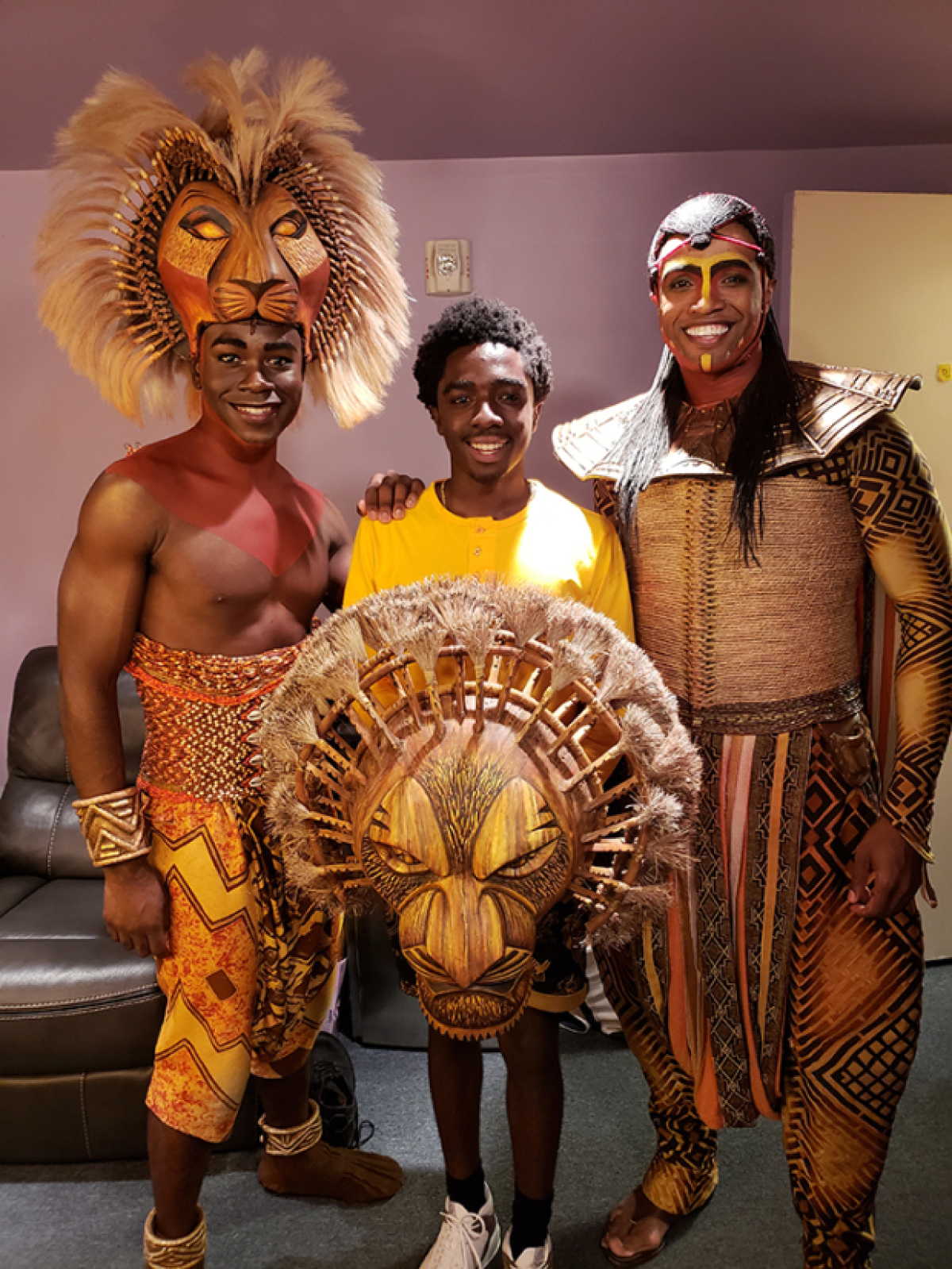 Stranger Things Star Caleb McLaughlin Waves Hello to The Lion King | TheaterMania