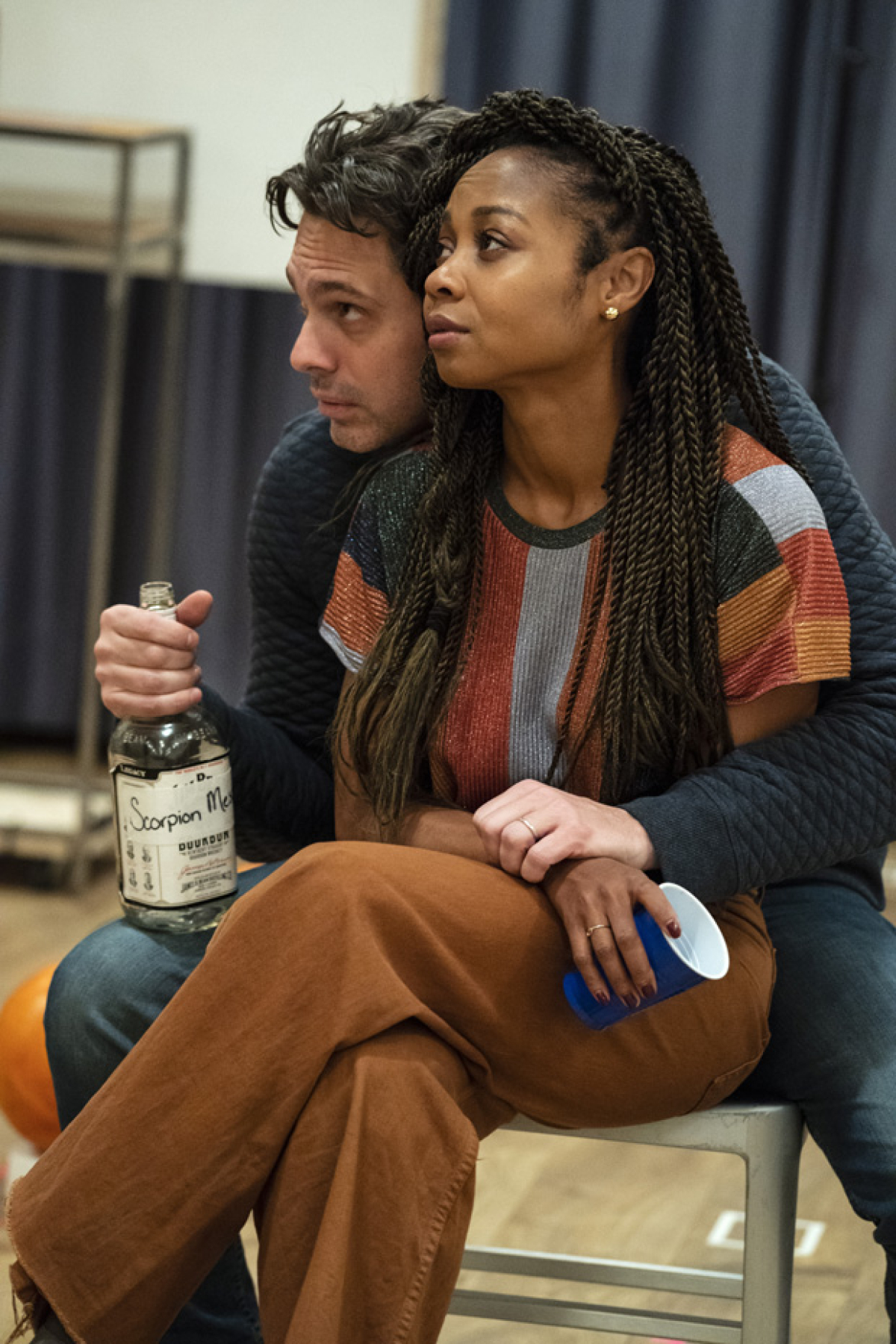 Thomas Sadoski And Daveed Diggs In The Rehearsal Room For