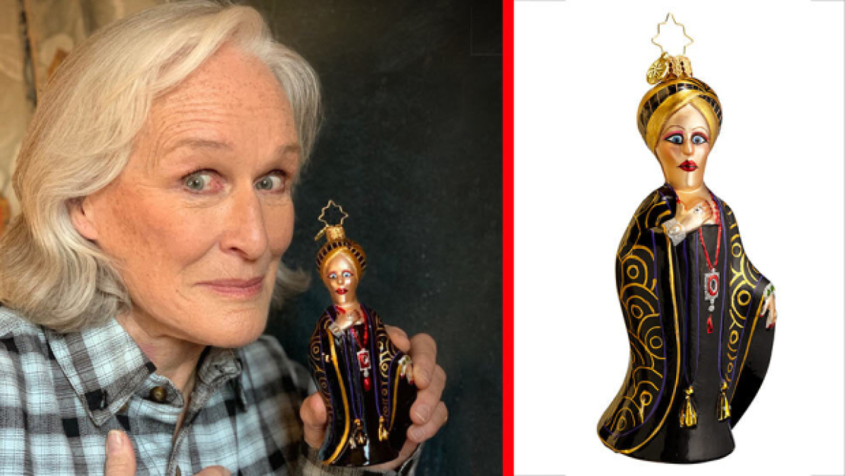Glenn Close Joins Broadway Legends Holiday Ornament Collection | TheaterMania