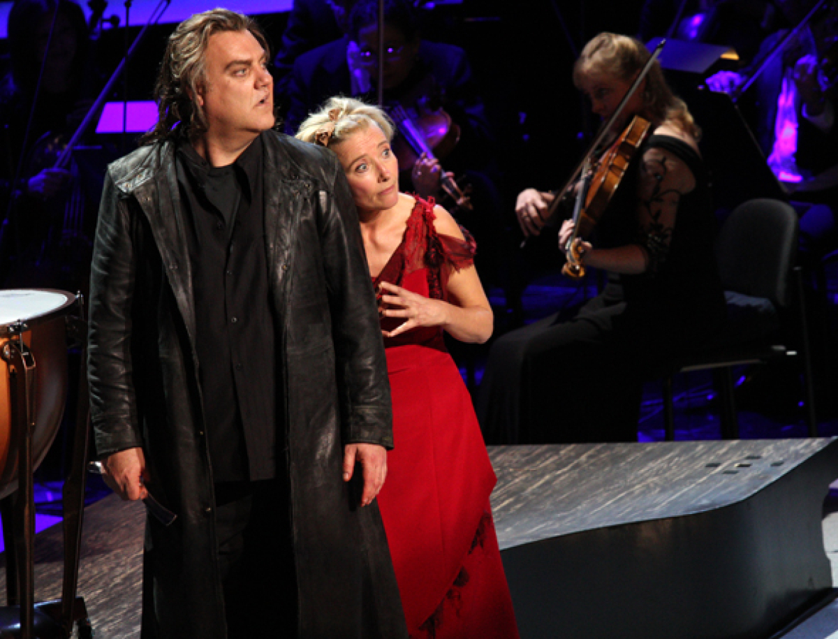 Emma Thompson and Bryn Terfel in Highlights From Sweeney Todd at the New York Philharmonic