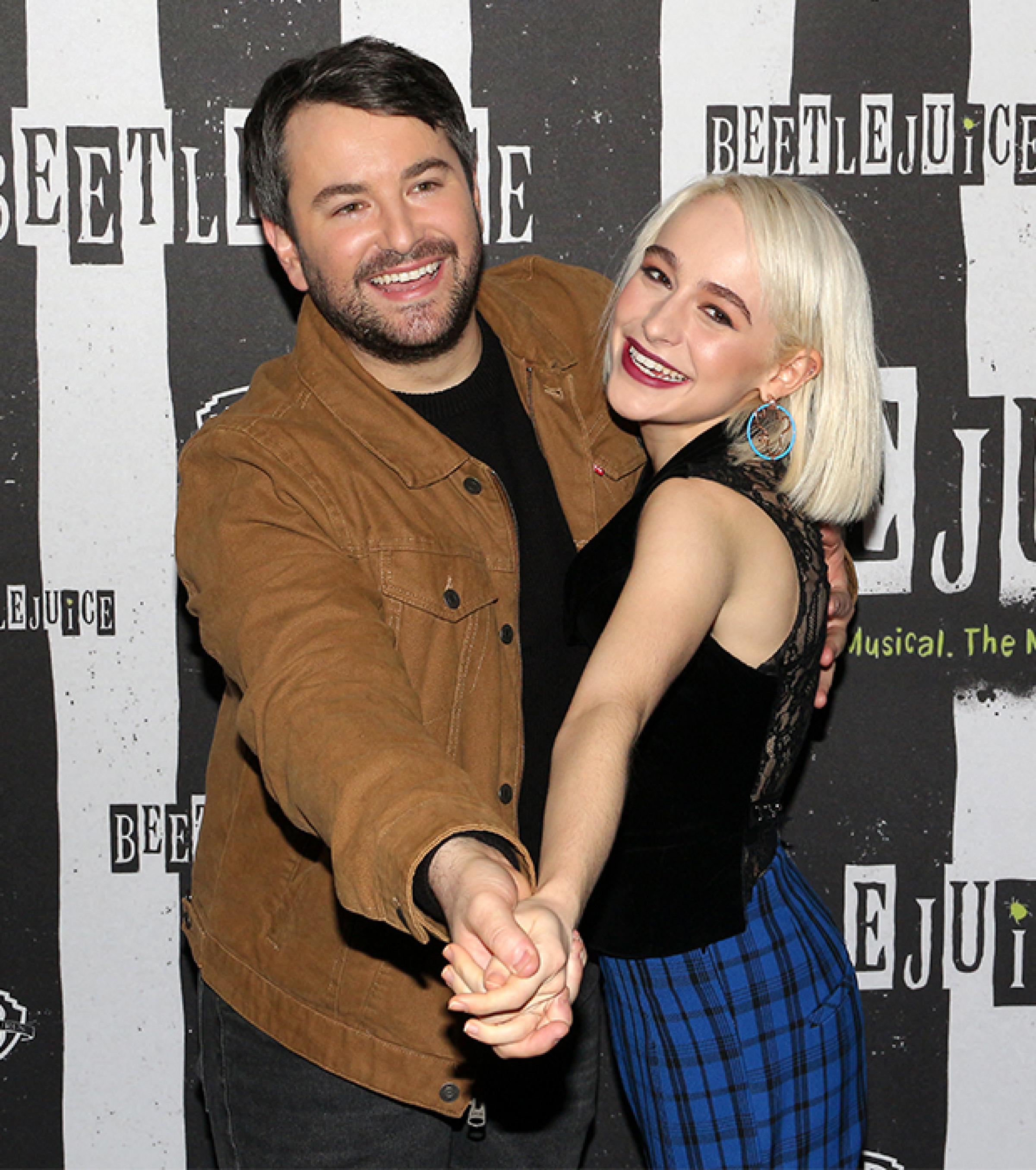 Alex Brightman Sophia Anne Caruso And Beetlejuice Stars Meet The Press Theatermania