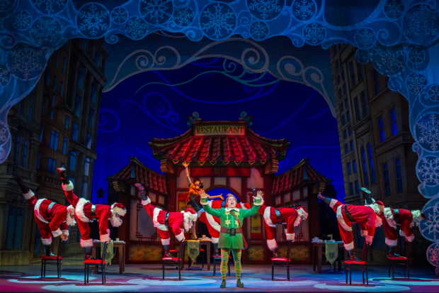 eric petersen leads the cast of elf the musical at the theater at madison square garden - The Theater At Madison Square Garden