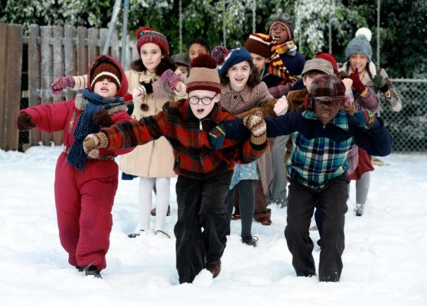 andy walken center leads the cast of a christmas story live on fox