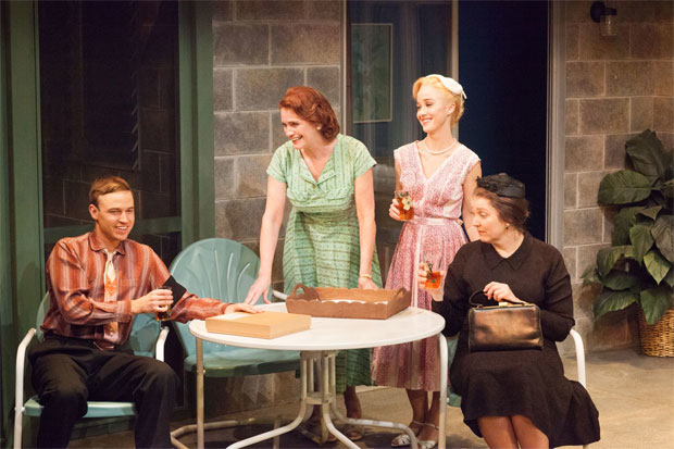 Erik Odom Sharon Sharth Lily Nicksay And Clarinda Ross In A Scene From