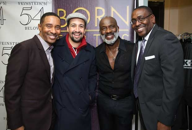 Charles Randolph-Wright, Lin-Manuel Miranda, BeBe Winans, and Ron Gillyard walk the red carpet for the Feinstein's/54 Below preview concert of Born For This.
