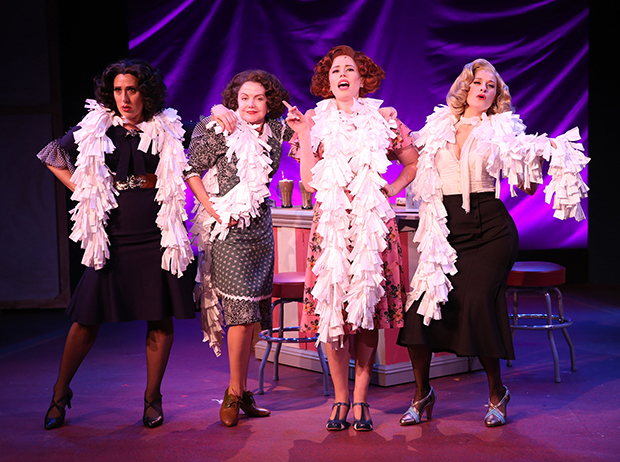 Farah Alvin, Alison Fraser, Allie Trimm, and Dana Costello in Enter Laughing. © Carol Rosegg