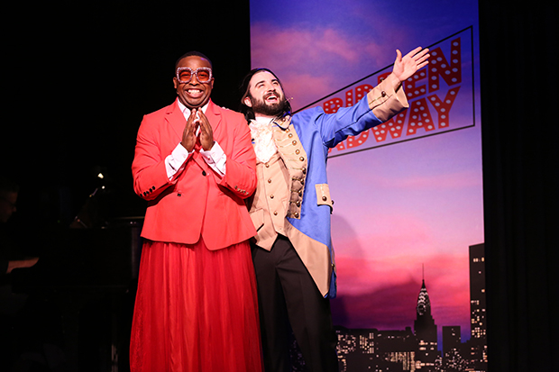 Immanuel Houston plays Billy Porter, and Chris Collins-Pisano plays Lin-Manuel Miranda in Forbidden Broadway: The Next Generation.