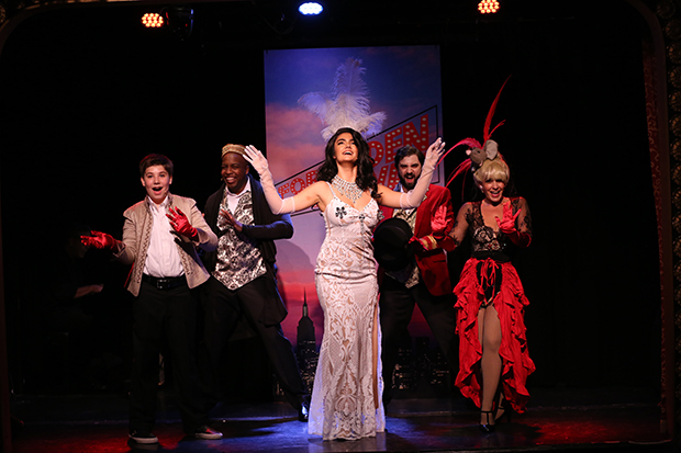"Joshua Turchin, Immanuel Houston, Aline Mayagoitia, Chris Collins-Pisano, and Jenny Lee Stern perform the ""Moulin Rouge segment from Forbidden Broadway: The Next Generation''."