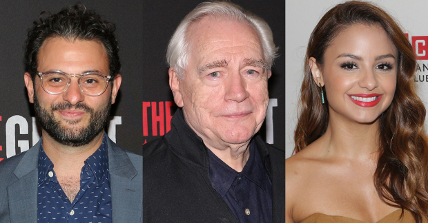 Arian Moayed, Brian Cox, and Aimee Carrero