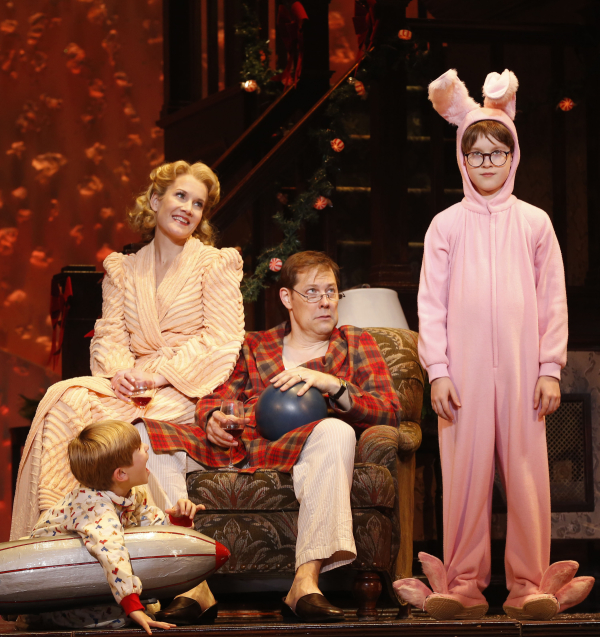 noah baird erin dilly john bolton and jake lucas in a christmas story at - A Christmas Story Musical