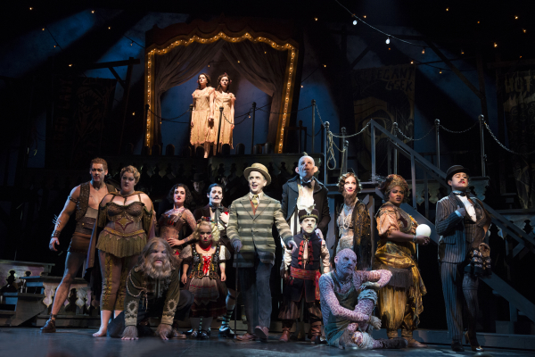 The cast of Henry Krieger and Bill Russell's Side Show, directed by Bill Condon, at Broadway's St. James Theatre.