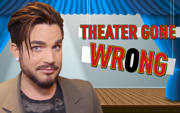 Theater Gone Wrong: Adam Lambert Takes a Spill in Wicked
